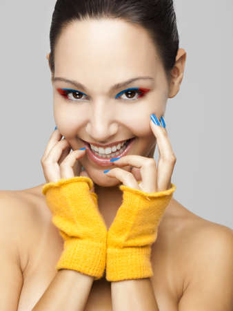 fashion portrait of a beautiful young woman smiling Stock Photo - 19428666