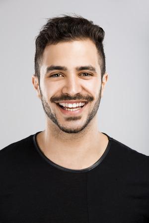 Portrait of a beautiful latin man smiling