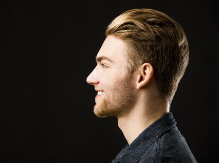 Studio portrait of a young fashion man Stockfoto
