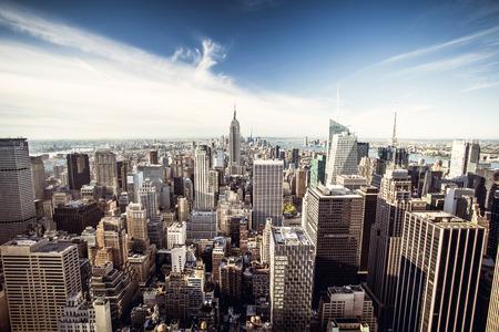 Bovenaanzicht van New York City, Top of the Rock Stockfoto