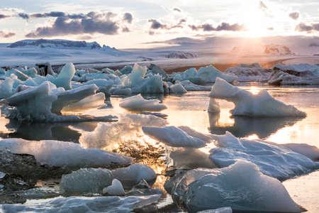 The amazing Jokulsarlon Glaciar Lagoon Imagens