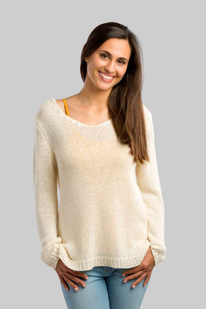 Studio shot of a beautiful young woman smiling Reklamní fotografie