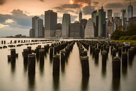 Cityescape of NYC from the Pier 2 - Brooklyn