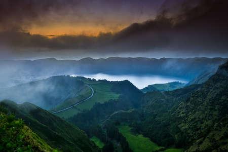 Schöne Landschaft der Azoren, Portugal