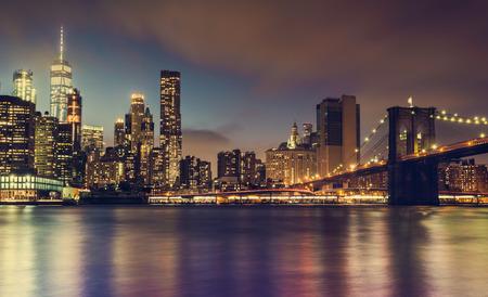 Vista di New York da Brooklyn
