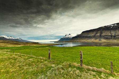 Beautiful green landscape in Iceland