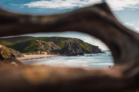 Point view of a beautiful desert beach from Portugal