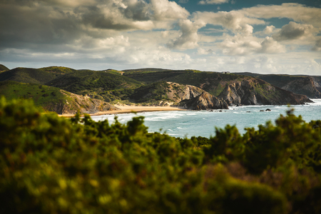 Beautiful desert beach from Portugal Imagens - 130544373