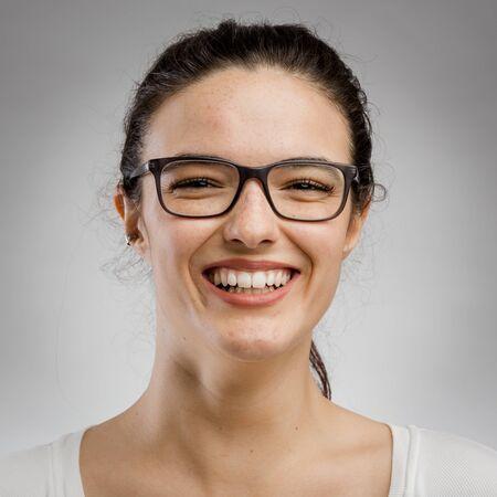 Cute portrait of a happy woman Stock fotó