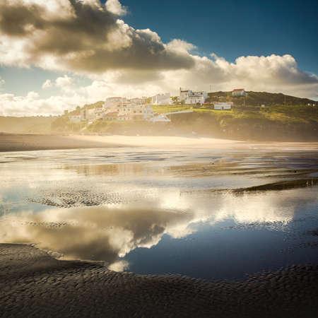 Beautiful beach of Aljesur (Portugal) at morning