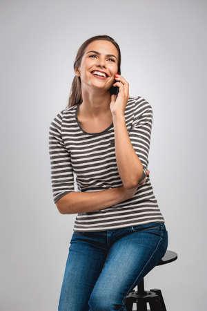 Beautiful woman making a phone call