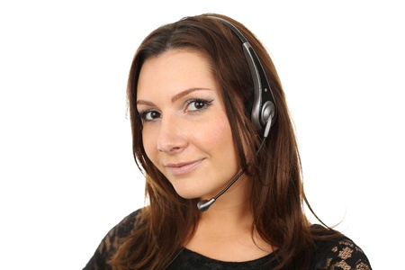 Friendly callcenter agent smiling photo