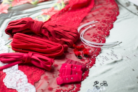 rubber lining: Different types of cloth, textiles and fabric and bra wire