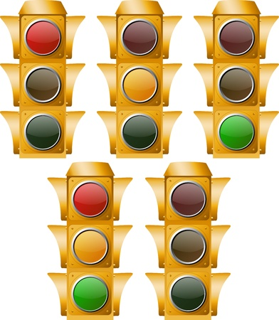 Yellow Traffic Light include all ON and OFF positions, named layers, easy to use.