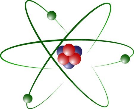 Modelo de átomo de litio Ilustración de vector