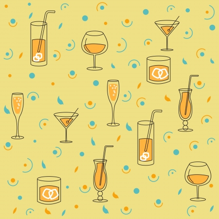 Seamless, Style Background for Alcohol Production and Packing Stock Vector - 14205772