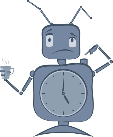 Robot with Clocks and Antenas