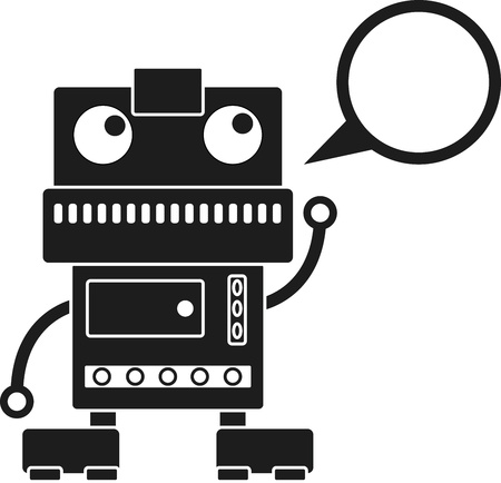 Robot with on it and Callout Stock Vector - 14828089