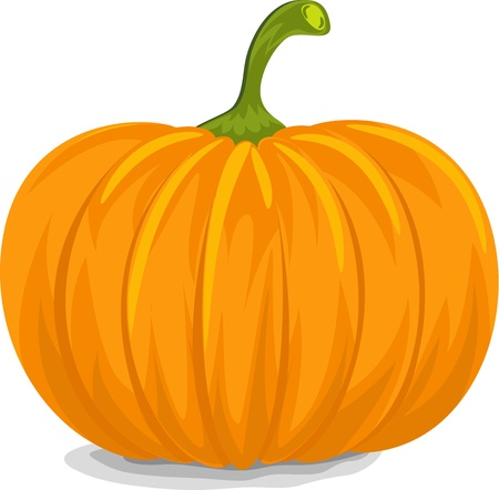 Style, Fresh, Decorative Yellow Pumpkin for Halloween.