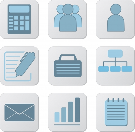 Set of nine business icons for website.