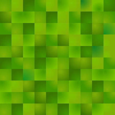Background made of square green gradient pixels