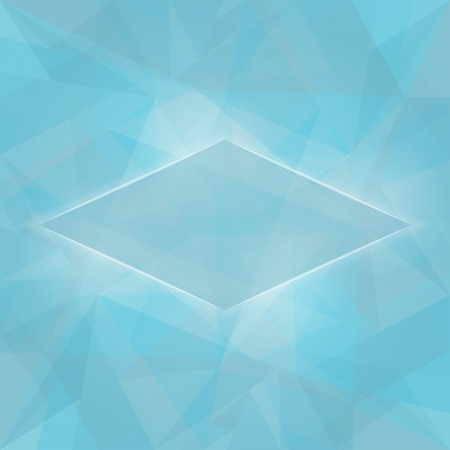 Abstract Glowing Blue Background With Transparent Triangles Vector