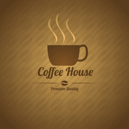 Retro styled coffee house menu in chocolate colors. Vector