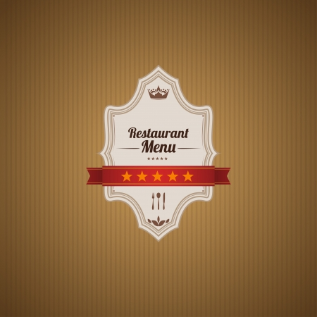 Classic retro main cover for restaurant menu.