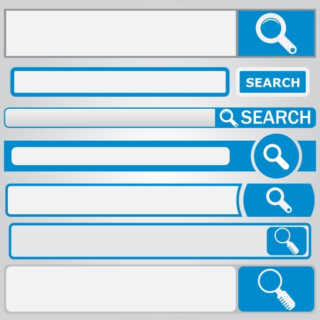 Web search form with button and loupe on it