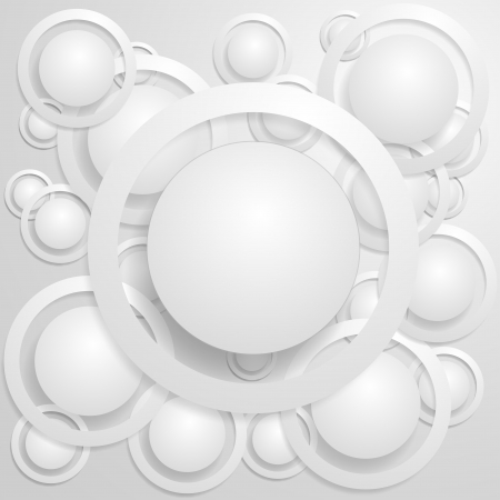 White circles with rings and shadow background  Illustration