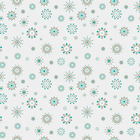 Abstract turquoise and brown circles pattern, ready for wallpaper background