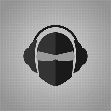 Music in dark colors  Vector