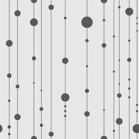 Grey seamless pattern with vertical lines and dots.