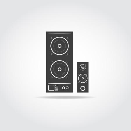 orador: Audio icono de los altavoces del sistema. Altavoz del vector icono.