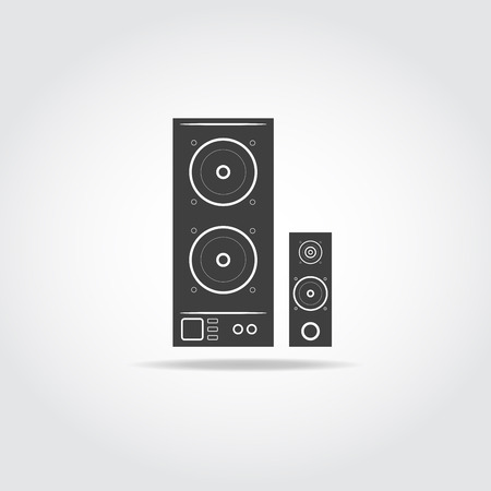 hi fi system: Audio system speakers icon. Speaker icon vector.