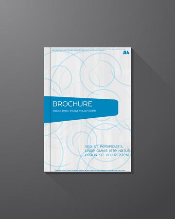 azure: Abstract brochure design template. Azure circles background.