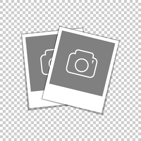 A set of photo frames. Standard template Polaroid shots with the correct aspect ratio. Vector illustration.