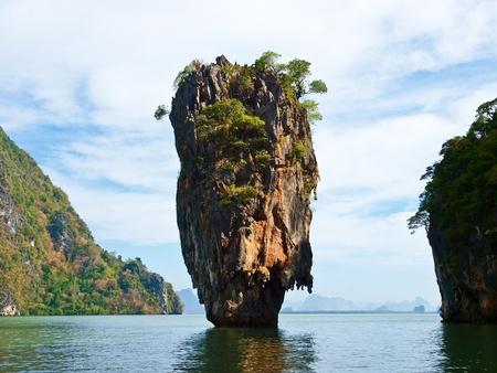 James Bond rock in Phang Nga Bay,south of Thailand photo