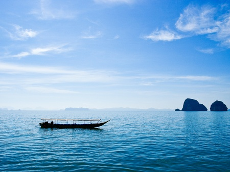 Boat in Phang Nga Bay,south of Thailand
