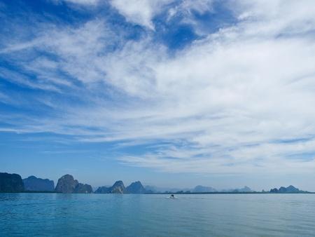 Phang Nga Bay,south of Thailand Stock Photo