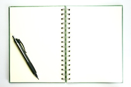 pencill on open  book with empty page Stock Photo - 13431909