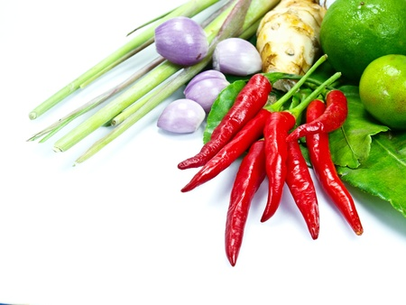 thai chili pepper: ingredients group of Tomyum  Thai food
