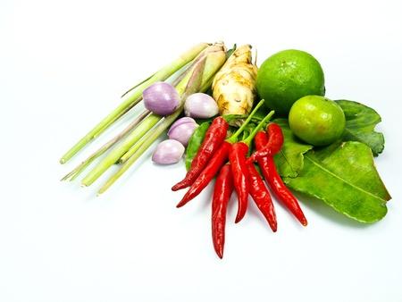 ingredients group of Tomyum  Thai food