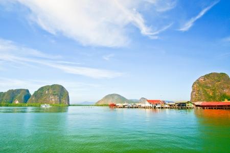 panyi: Panyi island in the Phang Nga Bay, south of Thailand