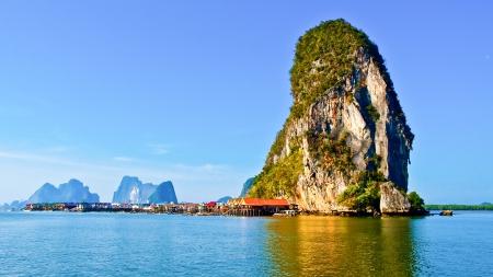 Panyi island in the Phang Nga Bay, south of Thailand