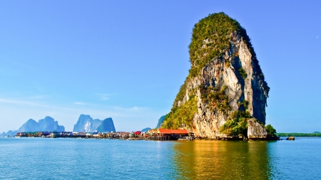 Panyi island in the Phang Nga Bay, south of Thailand