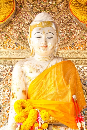 buddha statue Burma style at temple of thailand Stock Photo