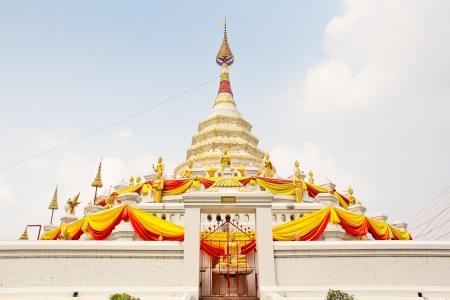 buddhism pagada  at temple of Thailand