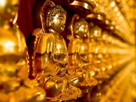 gold buddha on wall