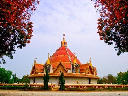 buddhism pagada Burma style at north of Thailand Stock Photo
